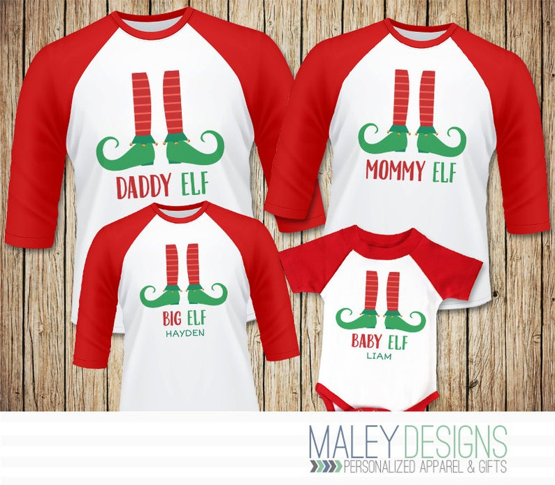 Family Elf Shirts Matching Family Christmas Pajamas Shirts  1b6dc0675