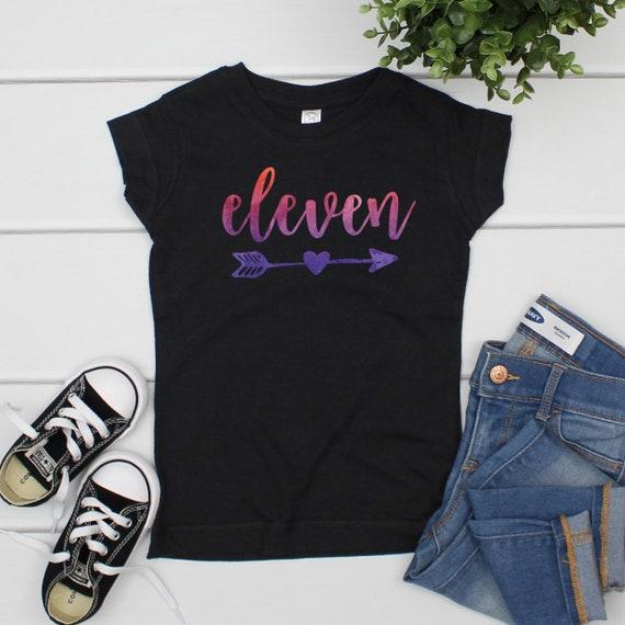 11th Birthday Shirt Girl Eleven