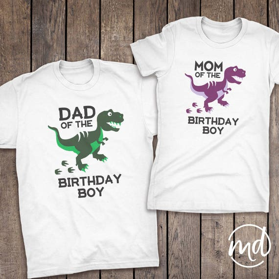 Dinosaur Birthday Shirt Family Coordinating
