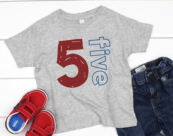 Boy Birthday Shirt 5 Year Old