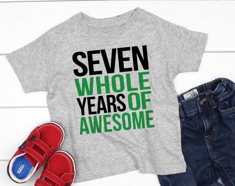 Seventh Birthday Shirt Boy 7th 7 Year Old