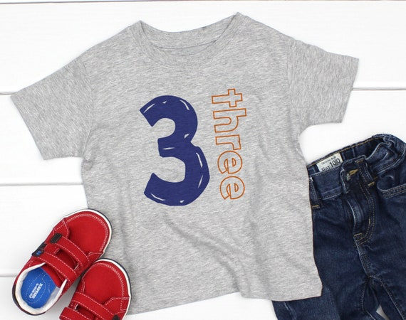 3 Year Old Birthday Shirts For Boy Third Shirt