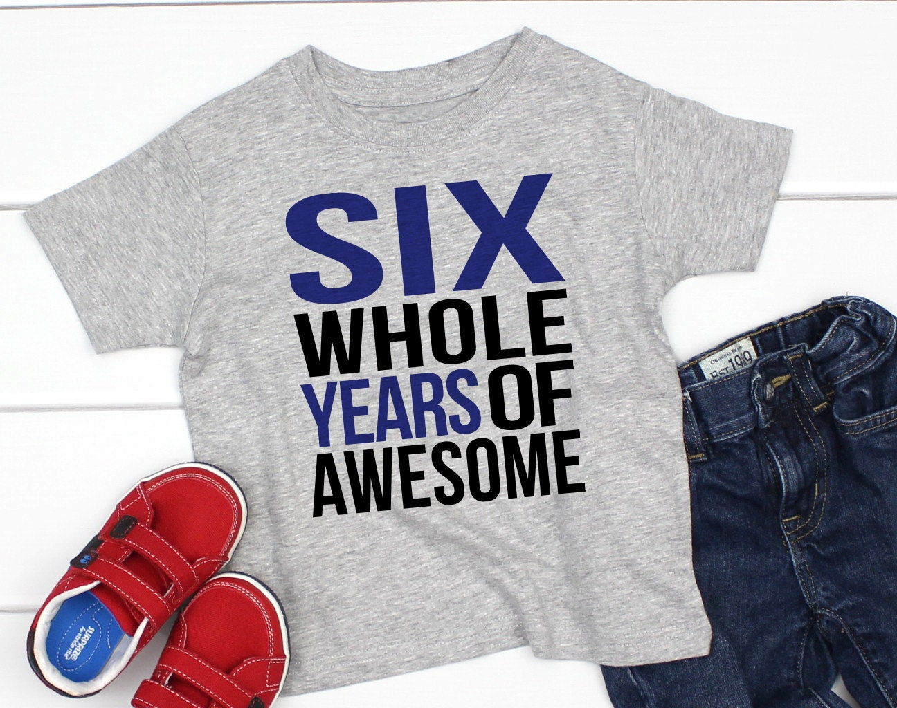 6th Birthday Shirt Boy 6 Year Old Six