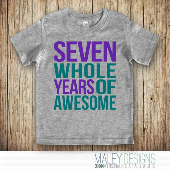 Birthday Shirt 7 Year Old Girl
