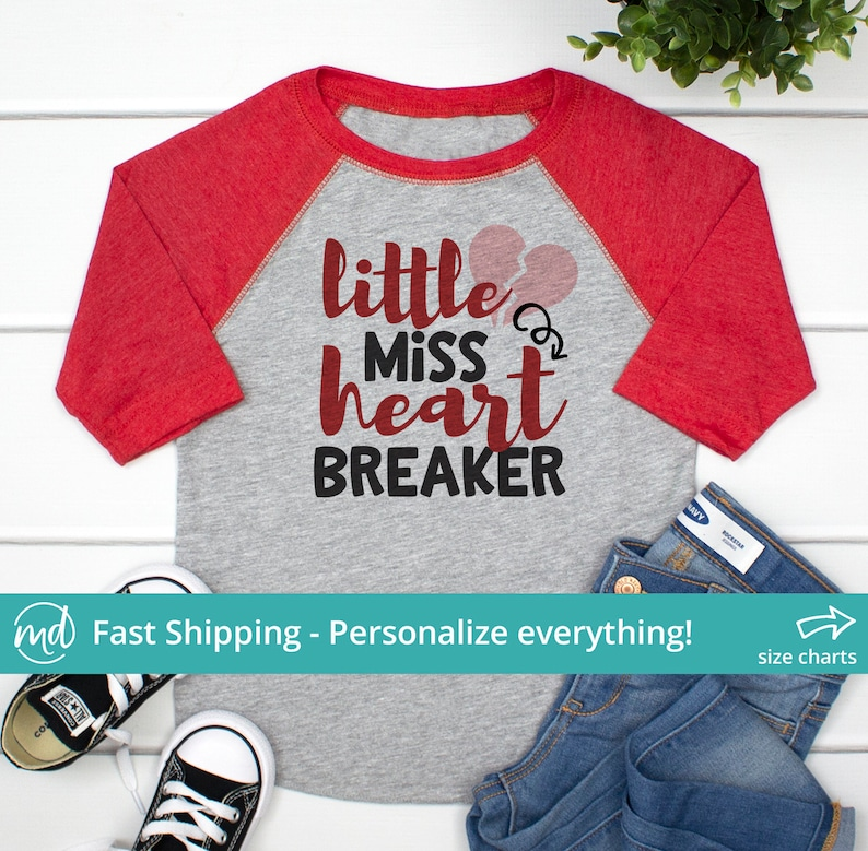 addc8ed02 Little Miss HeartBreaker Shirt Little Miss Heart Breaker | Etsy