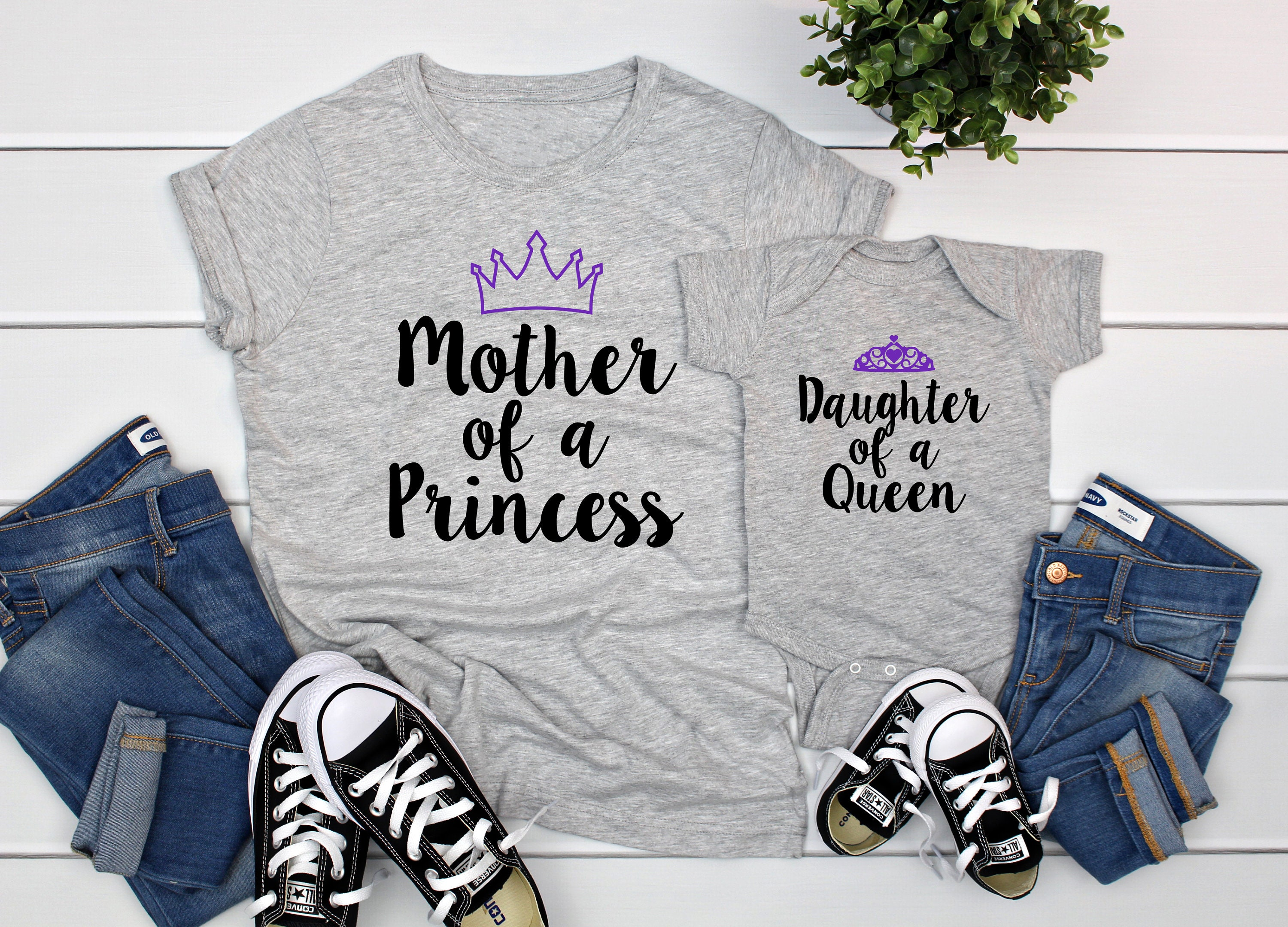 MUMMY OF a princess FANTASTIC PERSONALISED T SHIRTS MOTHERS DAY SMALL TO 3XL