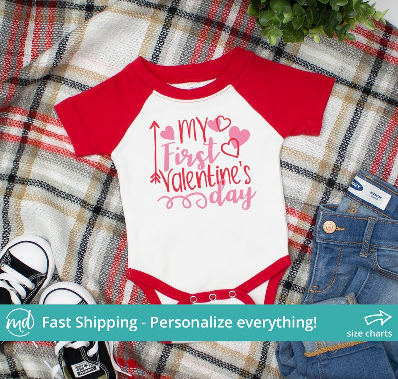 4c95cab4f209d My First Valentine's Day Outfit Baby Girl, My First Valentines Day Girl  Bodysuit, Baby Girl First Valentines Day Outfit Baby Girl VAL-013