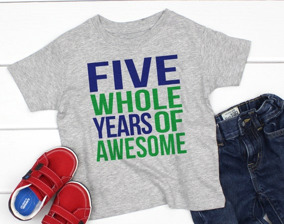 5th Birthday Shirt Boy Fifth