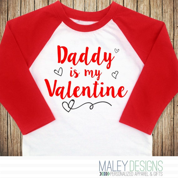 Daddy Is My Valentine Toddler Girl Valentine Outfit Girls Etsy