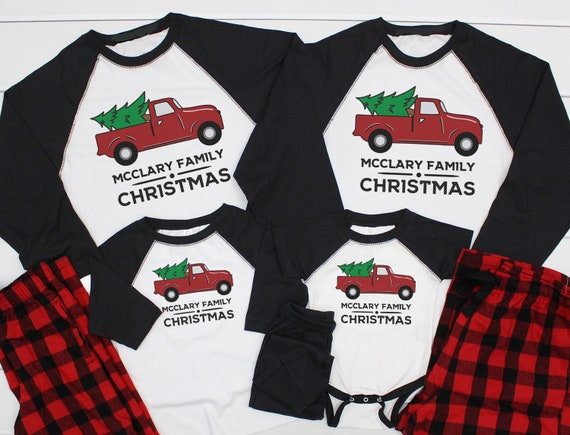 Matching Buffalo Plaid Christmas Pajamas Christmas Pjs  c4cdb182d