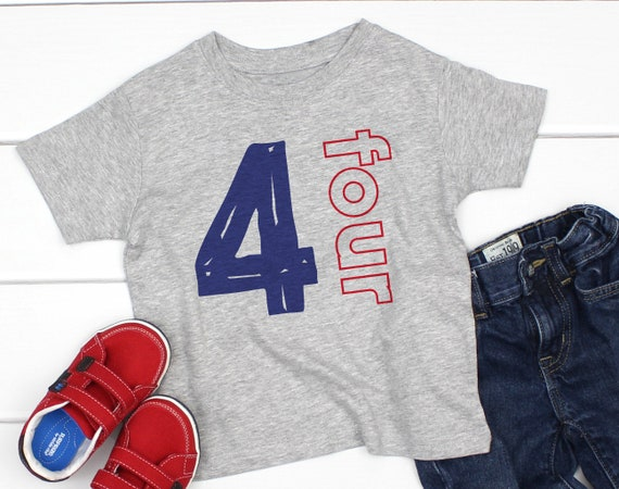 Birthday Shirt 4 Year Old Boy Four