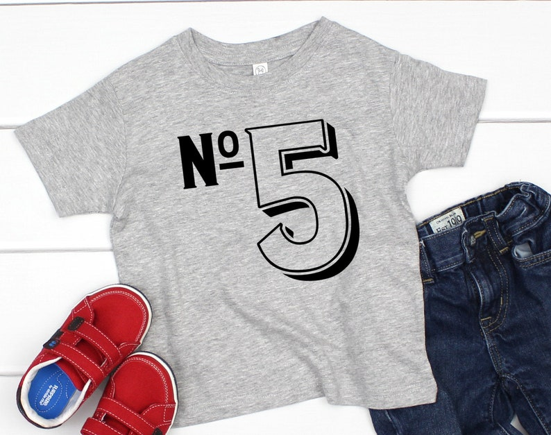 5 Year Old Birthday Shirt Five Boys 5th