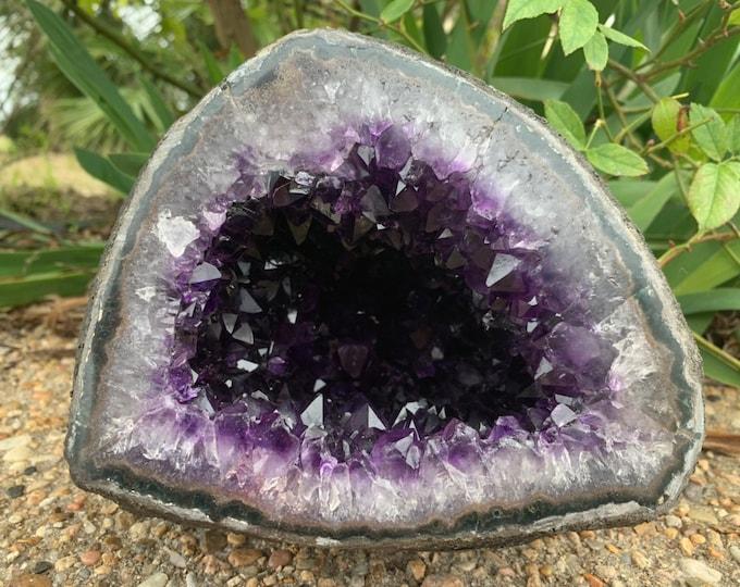 8.9 LBs Beautiful Grade AAA Amethyst Geode--Artigas Uruguay
