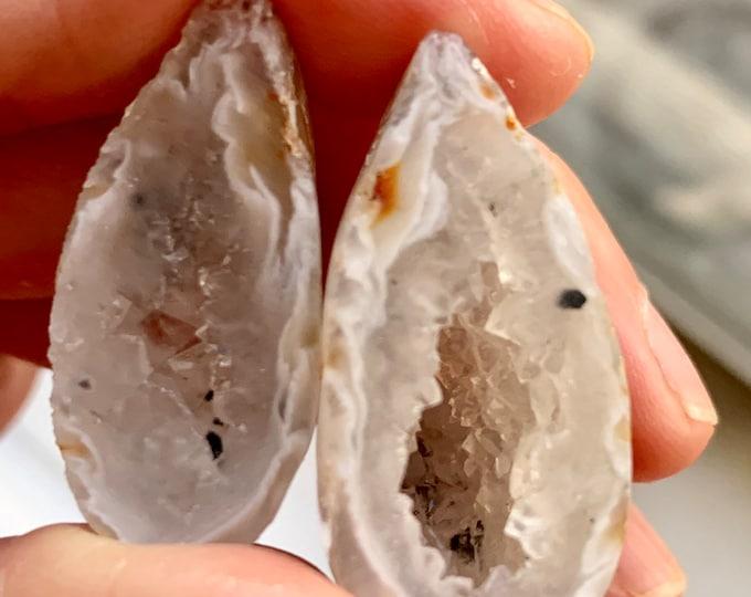 oco agate geode matching pair