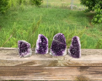 5 Pounds lot Uruguay Amethyst Geode Clusters With Cut Base