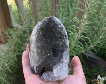 Gallery quality natural  Black Amethyst Specimen with beautiful lusters- Artigas Uruguay