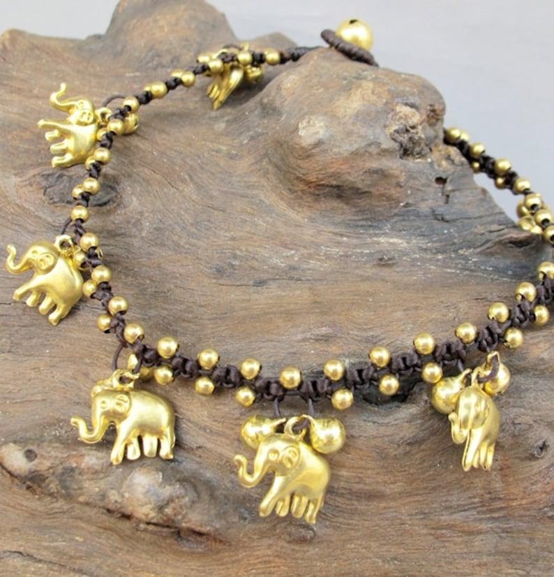 Mini Brass Chain Elephant Anklet Jewelry & Watches Fashion Jewelry