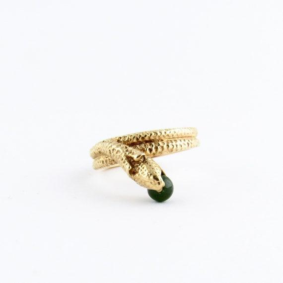 Vintage 14k Gold Snake Ring | Yellow Gold Snake Ri