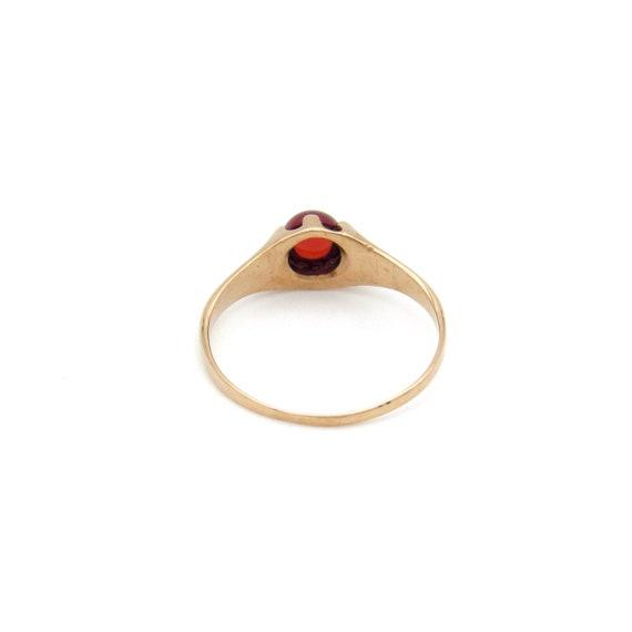 Victorian 10k Gold Garnet Ring   Antique Rose Gol… - image 7