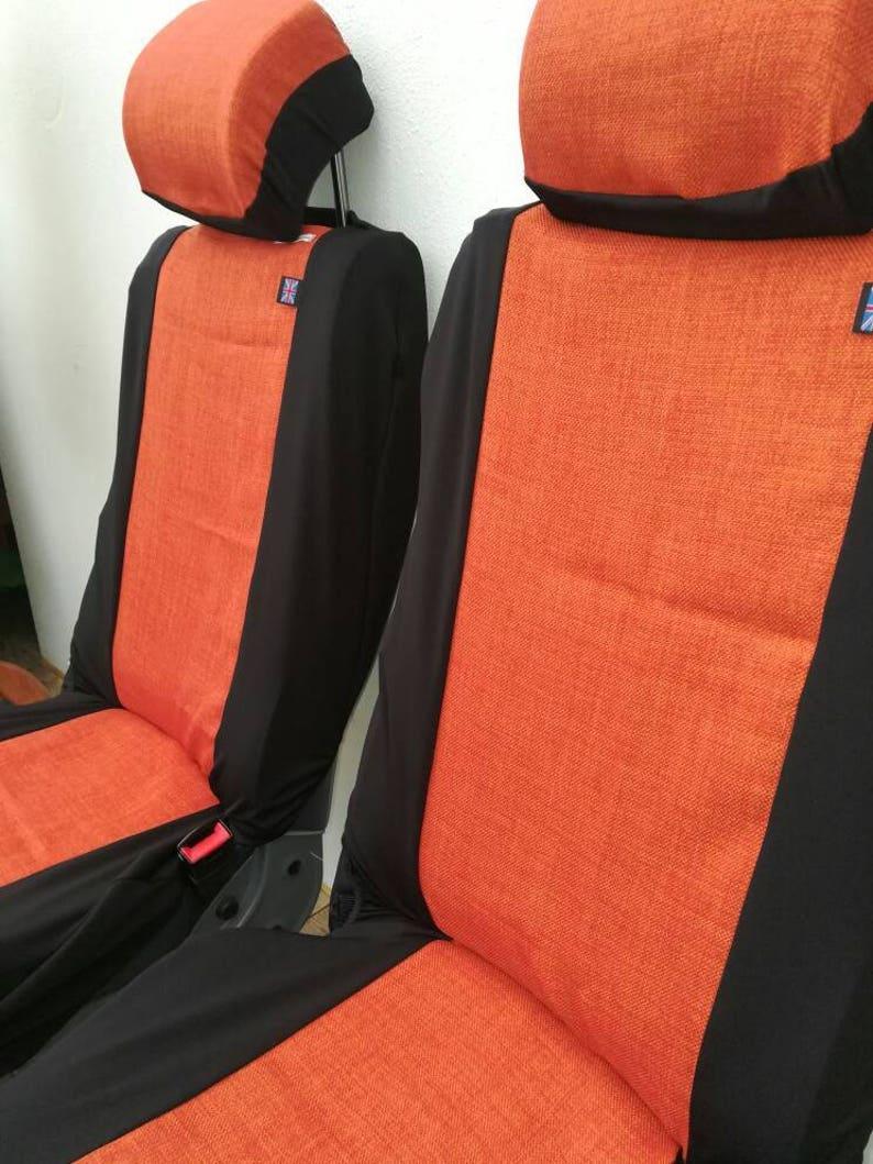 Orange Vw T4 T5 Front Seat Covers Pair Of Van Covers In Etsy