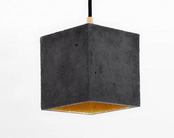 Concrete hanging lamp [B1] dark lamp minimalist square rare designer lamp