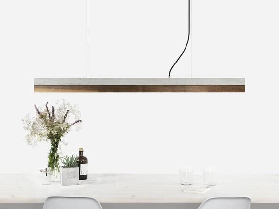 Hanger c groove concrete walnut minimalistische etsy