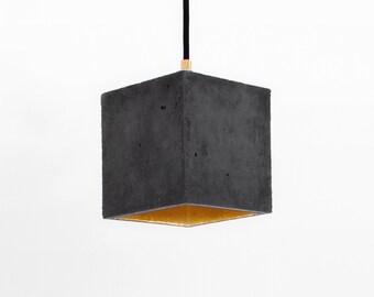 Concrete Pendant Light [B1]dark - Medium