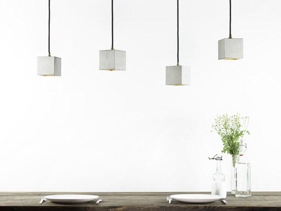 Beton Hangelampe B6 Lampe Minimalistisch Quadratisch Klein Etsy