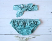 Baby swimsuit for girl and headband