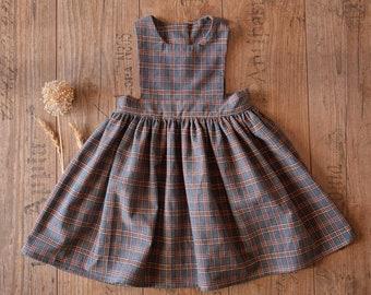 Check pinafore dress girls