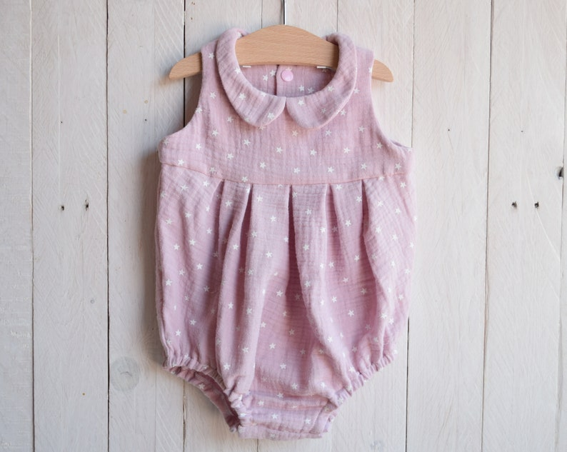 1bf8b9a19 Peter pan romper Muslin baby clothes Easter baby outfit   Etsy