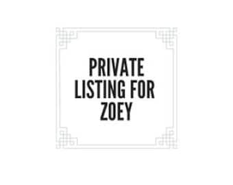 Private listing for Zoey