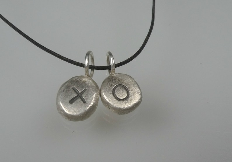 personalized necklace price is for one nugget only rustic silver nuggets with letter Tiny initial Necklace