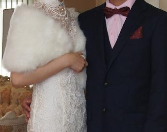 Wedding fur shawl, bridal shawl, fur wedding shawl, winter wedding shawl, wedding dress shawl, faux fur wedding shawl