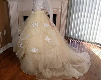 Lace wedding skirt, Tulle wedding skirt, Tulle wedding dress