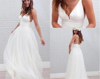 1cc873a34b4 Sexy beach wedding dress - Custom order for client (Before   After)
