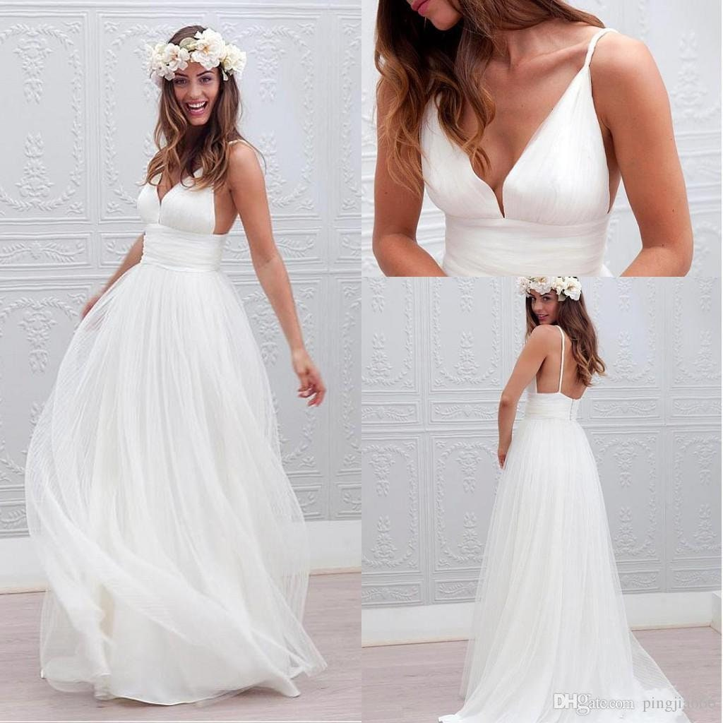 83ecf7db40 Sexiest Beach Wedding Dresses