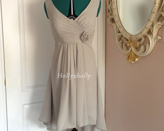 Tan taupe bridesmaid dress, Champagne bridesmaid dress