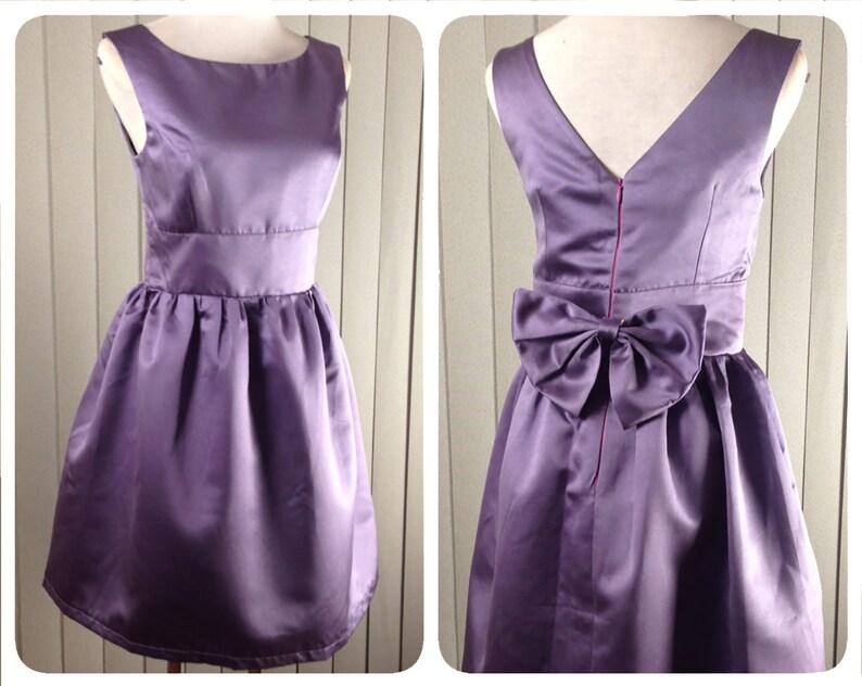 015ed98c19c Audrey hepburn dress purple bridesmaid dress 50s dress Plus
