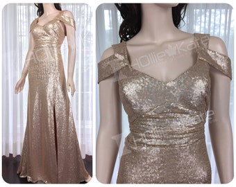 Champagne mother of the bride dress, mother of the groom dress, champagne bridesmaid dress, wedding guest dress