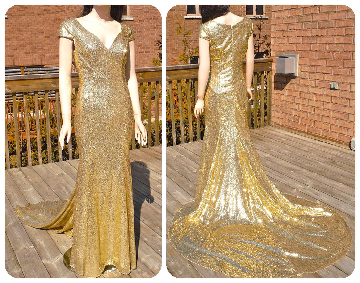 Bridesmaid dress, gold sequin bridesmaid dresses, gold sequin dress, gold wedding dress, sequin wedding dress