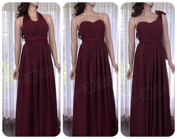 8016503f8cf Maroon Convertible bridesmaid dress Burgundy infinity dress