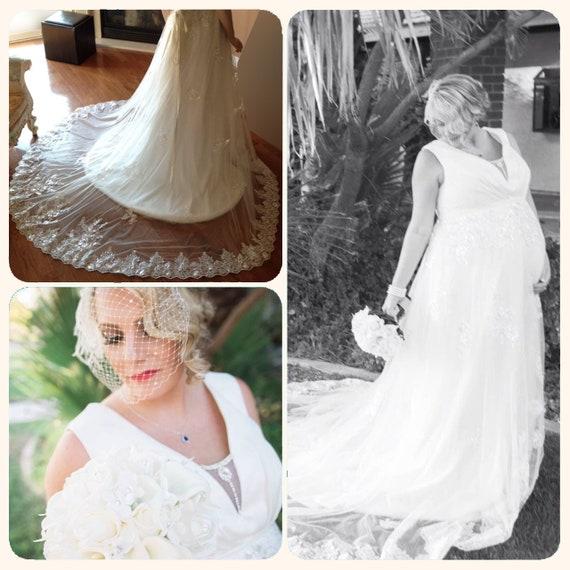 ślub Sukienka Suknia Ciążowa Koronki Koronkowa Suknia ślubna Etsy