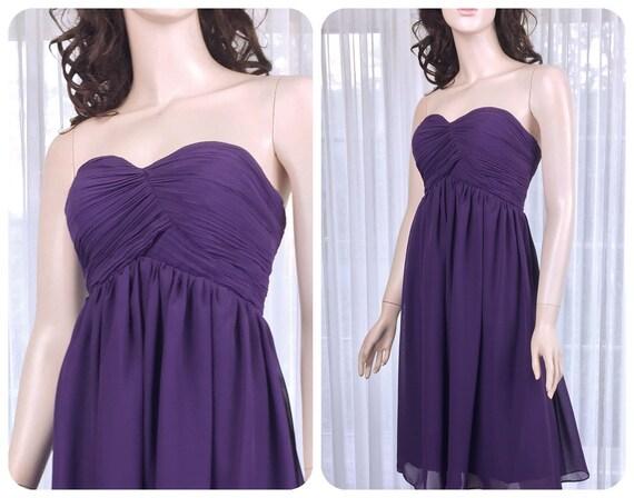 Aubergine Brautjungfernkleid dunkel lila Abendkleid lila | Etsy