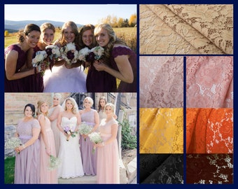 Blush Lace bridesmaid dresses - custom design, over  50+ colours to choose from
