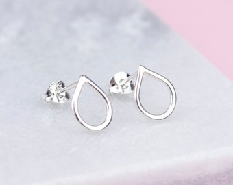 Sterling Silver Teardrop Stud Earrings