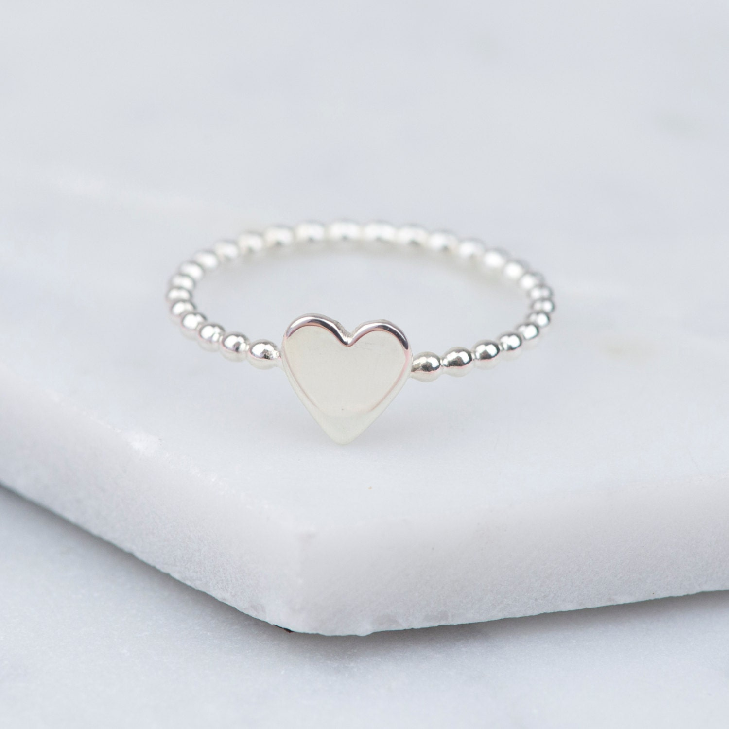 Sterling Silver Heart Ring Heart Ring Simple Silver Ring  42689f17fd