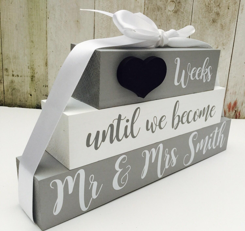 Personalised Wedding Countdown Chalkboard Engagement Gift