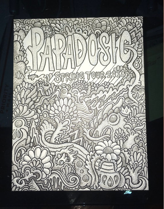 Papadosio Spring Tour OG Ink Illustration