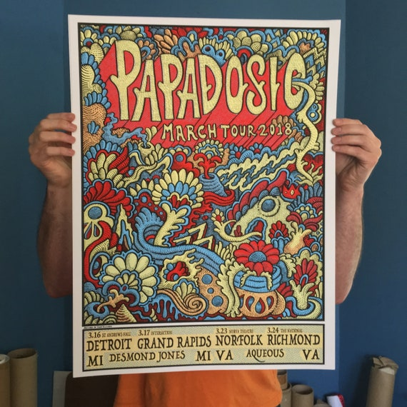 Papadosio March Tour 2018 Print